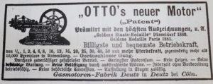 Nicolaus A. Otto erfindet den Viertaktmotor