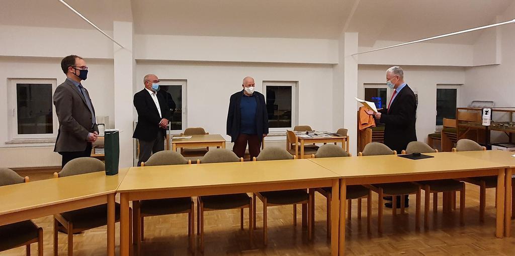 Ehrennadel des Landes Rheinland-Pfalz an Günther Klos